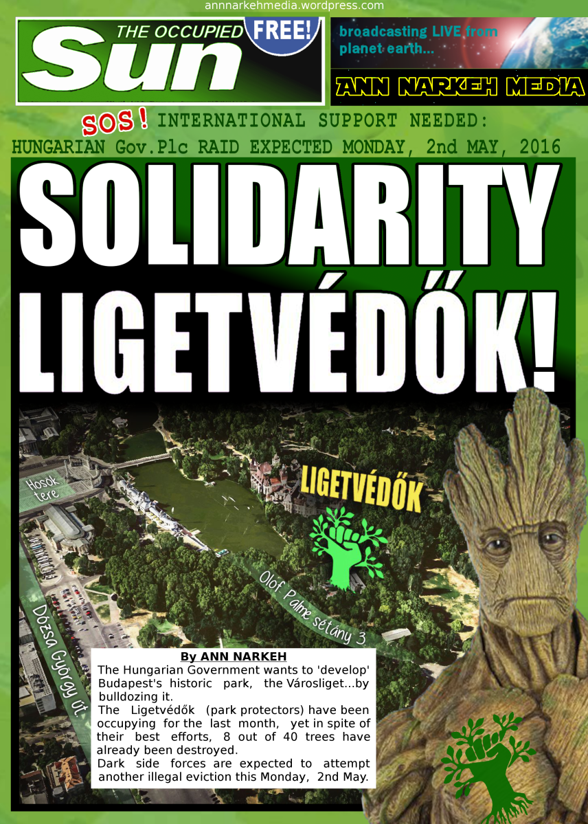 Solidarity Ligetvédők! SOS! INTERNATIONAL SUPPORT NEEDED