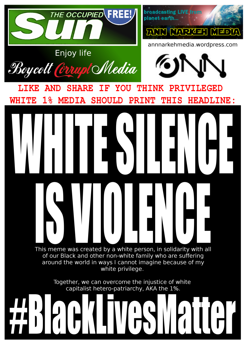 WHITE SILENCE IS VIOLENCE #BlackLivesMatter