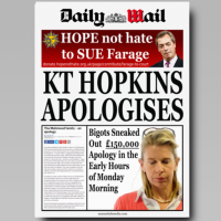 KT HOPKINS APOLOGISES [Daily Wail]
