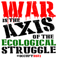 WAR is the Axis of the Ecological Struggle. #StopDSEI 2019